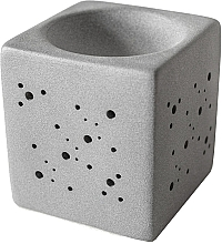 Духи, Парфюмерия, косметика Аромалампа квадратная, серая - Flagolie By Paese Cube Fireplace Grey