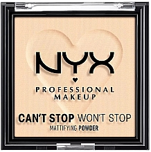 Духи, Парфюмерия, косметика Компактная матирующая пудра для лица - NYX Professional Makeup Can't Stop Won't Stop Mattifying (01 -Fair)