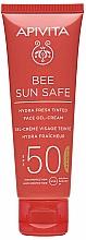 Духи, Парфюмерия, косметика Тонирующий крем-гель для лица с морскими водорослями и прополисом - Apivita Bee Sun Safe Hydra Fresh Tinted Face Gel-Cream SPF50