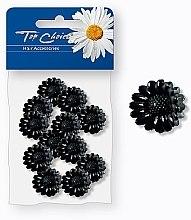 Духи, Парфюмерия, косметика Заколки для волос, 25389, черные цветочки - Top Choice