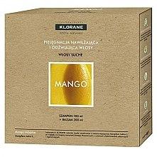 "Духи, Парфюмерия, косметика Набор ""Манго"" - Klorane Mango Butter (shm/200ml + h/balm/200ml)"