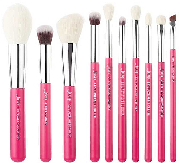 Набор кистей для макияжа, T203, 10шт - Jessup — фото N1