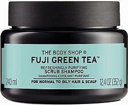 """Духи, Парфюмерия, косметика Скраб-шампунь для волос и кожи головы """"Зелёный чай"""" - The Body Shop Fuji Green Tea Cleansing Hair Scrub"""
