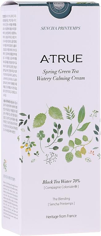 Успокаивающий крем для лица для жирной кожи - A-True Spring Green Tea Watery Calming Cream — фото N2