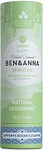 "Духи, Парфюмерия, косметика Дезодорант ""Лимон и лайм""(картон) - Ben&Anna Natural Deodorant Sensitive Lemon & Lime"