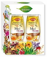 Духи, Парфюмерия, косметика Набор - Bione Cosmetics Honey + Q10 (shm/260ml+sh/gel/300ml)