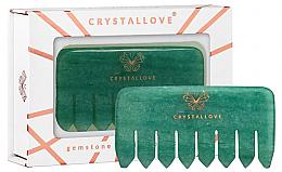 Духи, Парфюмерия, косметика Расческа для массажа кожи головы из авантюрина - Crystallove Aventurine Comb
