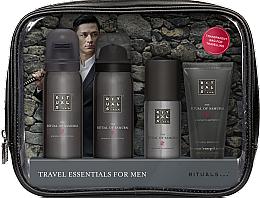 Духи, Парфюмерия, косметика Набор - Rituals The Ritual of Samurai Essentials Travel Set (foam/gel/50ml + sh/foam/50ml + cr/30ml + deo/50ml + bag)