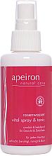 Духи, Парфюмерия, косметика Спрей для кожи лица и декольте с розовой водой - Apeiron Rose Water Vital-Spray