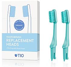 Духи, Парфюмерия, косметика Сменные насадки для зубной щетки, средняя щетина, бирюзовая - TIO Toothbrush Medium