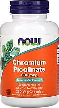 "Духи, Парфюмерия, косметика Капсулы ""Пиколинат хрома"", 200 мкг - Now Foods Chromium Picolinate"