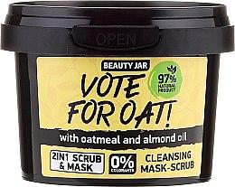 Духи, Парфюмерия, косметика Очищающая маска-скраб - Beauty Jar Vote For Oat! Cleansing Mask-Scrub