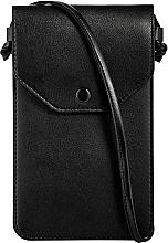 """Чехол-сумка для телефона на ремешке, чёрный """"Cross"""" - Makeup Phone Case Crossbody Black — фото N4"""