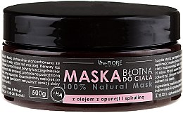 Духи, Парфюмерия, косметика Грязевая маска для тела с спирулиной, маслом опунции и кислотой - E-Fiore Body Mask With Spirulina, Opuntia Oil And HA Acid
