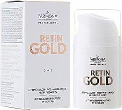Духи, Парфюмерия, косметика Лифтинг-крем для кожи вокруг глаз - Farmona Retin Gold Lifting & Illuminating Eye Cream