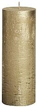 Духи, Парфюмерия, косметика Свеча цилиндрическая Metallic Gold, 190/68 мм - Bolsius Candle