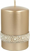 Духи, Парфюмерия, косметика Декоративная свеча золотая, 7х10см - Artman Crystal Opal Pearl