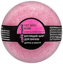 "Духи, Парфюмерия, косметика Бурлящий шар для ванны ""Цитрус и вишня"" - Cafe Mimi Bubble Ball Bath"