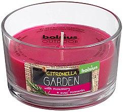 """Духи, Парфюмерия, косметика Ароматическая свеча в стекле """"Citronella Garden Rosemary"""", 62/106 мм - Bolsius Candle"""