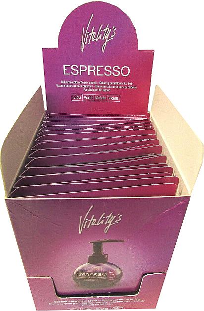 Бальзам с окрашивающим эффектом - Vitality's Art Espresso Coloring Conditioner For Hair (пробник) — фото N4