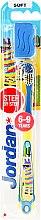 Духи, Парфюмерия, косметика Детская зубная щетка Step 3 (6-9) мягкая, желто-голубая, зебра - Jordan