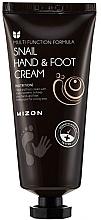Духи, Парфюмерия, косметика Крем для рук и ног с муцином улитки - Mizon Snail Hand And Foot Cream