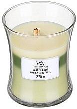 Духи, Парфюмерия, косметика Ароматическая свеча в стакане - WoodWick Hourglass Trilogy Candle Garden Oasis