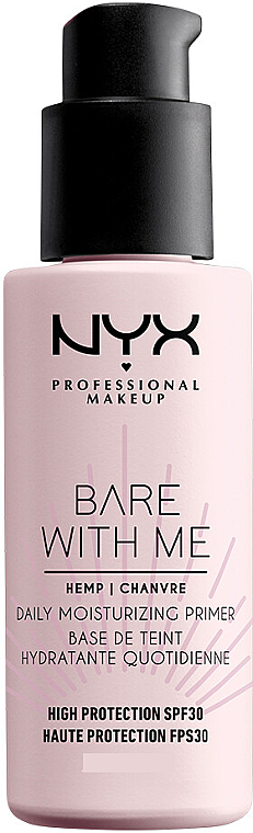 Увлажняющий праймер для лица с защитой SPF30 - NYX Professional Makeup Bare With Me Hemp Deily Moisturizing Primer — фото N1