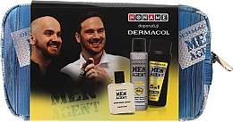 Духи, Парфюмерия, косметика Набор - Dermacol Men Agent Total Freedom (sh/gel/250ml + after/shave/lotion/100ml + deo/spray/150ml)
