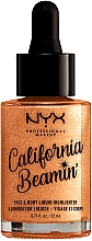 Духи, Парфюмерия, косметика Жидкий хайлайтер для лица и тела - NYX Professional Makeup California Beamin' Face & Body Liquid Highlighter