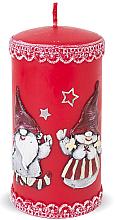 Духи, Парфюмерия, косметика Декоративная свеча, красная, 7х18см - Artman Dwarves