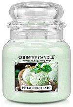 Духи, Парфюмерия, косметика Ароматическая свеча в банке - Country Candle Pistachio Gelato