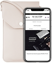 "Духи, Парфюмерия, косметика Чехол-сумка для телефона на ремешке, бежевый ""Cross"" - Makeup Phone Case Crossbody Beige"