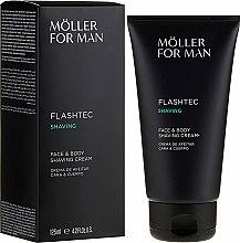Духи, Парфюмерия, косметика Крем для бритья - Anne Moller Man Flashtec Shaving Face And Body Shaving Cream