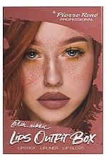 Духи, Парфюмерия, косметика Набор для макияжа губ - Pierre Rene Lips Outfit Box No. 03 @Im.Nikki (lipstick/3g + lip/pensil/0.4g + lip/gloss/6ml)
