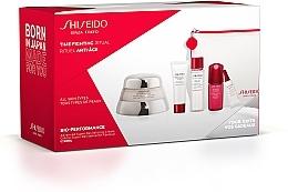 Духи, Парфюмерия, косметика Набор - Shiseido Bio-Performance Time Fighting Ritual (cr/50ml + conc/10ml + foam/15ml + softner/30ml + conc/3ml + bag)