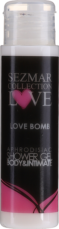 Гель для душа - Sezmar Collection Love Love Bomb Aphrodisiac Shower Gel (мини) — фото N1