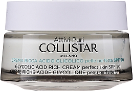 Духи, Парфюмерия, косметика Насыщенный крем с гликолевой кислотой для идеальной кожи лица - Collistar Pure Actives Glycolic Acid Rich Cream SPF20