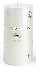 Духи, Парфюмерия, косметика Ароматическая свеча, белая, 9х13см - Artman Winter Glass