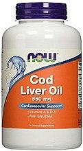 """Духи, Парфюмерия, косметика Капсулы """"Рыбий жир из печени трески"""", 650 мг - Now Foods Cod Liver Oil"""