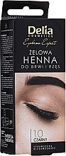 Духи, Парфюмерия, косметика Гель-краска для бровей, черная - Delia Eyebrow Tint Gel ProColor 1.0 Black