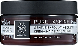 Духи, Парфюмерия, косметика Деликатно отшелушивающий крем «Чистый жасмин» - Apivita Gentle Exfoliating Cream