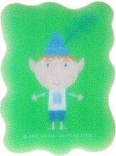 "Духи, Парфюмерия, косметика Мочалка детская ""Бен и Холли"", Бен, зеленая - Suavipiel Ben & Holly"