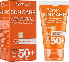 Духи, Парфюмерия, косметика Защитный тонизирующий крем для смешанной и жирной кожи SPF 50 - Floslek Sun Protection Cream SPF50+