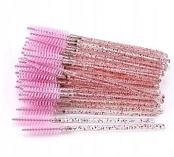 Духи, Парфюмерия, косметика Одноразовые щеточки для ресниц и бровей, прозрачно-розовые - Lewer