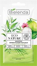 Духи, Парфюмерия, косметика Маска для лица - Bielenda Eco Nature Coconut Water Green Tea & Lemongrass Detox & Mattifyng Face Mask