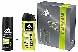 Духи, Парфюмерия, косметика Adidas Pure Game - Набор (deo/spray/150ml + sh/gel/250ml)