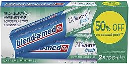 "Духи, Парфюмерия, косметика Набор зубной пасты ""3D White"" - Blend-a-med 3D White Fresh Extreme Mint Kiss"