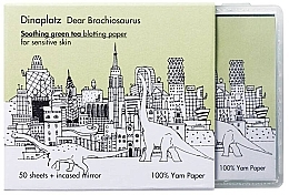 Духи, Парфюмерия, косметика Матирующие салфетки - Too Cool For School Dinoplatz Dear Brachiosaurus Blotting Paper Green Tea