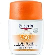 Духи, Парфюмерия, косметика Солнцезащитный флюид для лица с фактором УФ защиты SPF 50 - Eucerin Sun Fluid Mattifying SPF 50
